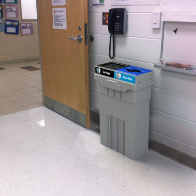Campus and Office Washroom Recycling Bin, Slim Recycling Bin, Campus Recycling and waste bin, School Recycling Container, University Recycling and waste bin