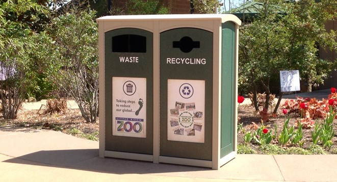 Recycling Containers at Little Rock Zoo