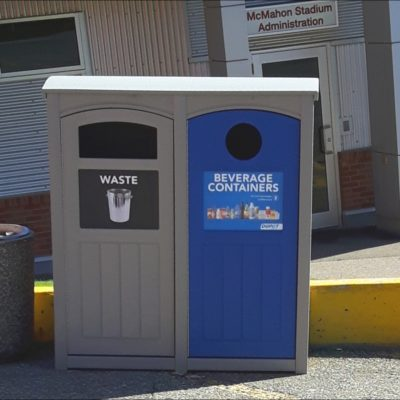 Mc-Mahon-Stadium Recycling Container / Outdoor Recycling Bin