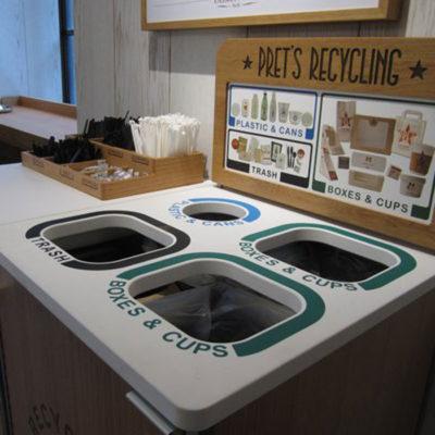 Pret-A-Manger Custom Recycling Station