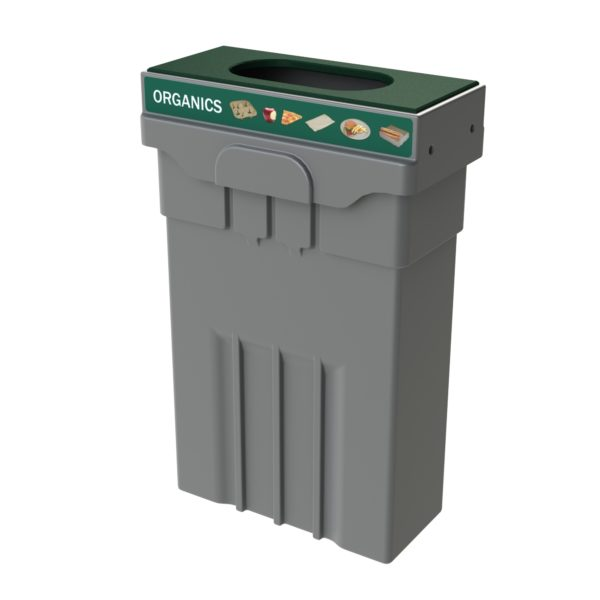 Campus and Office Washroom Recycling Bin, Slim Recycling Bin, Compost