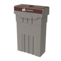 Campus and Office Washroom Recycling Bin, Slim Recycling Bin