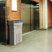 Campus and Office Washroom Recycling Bin, Slim Recycling Bin, Lobby recycling