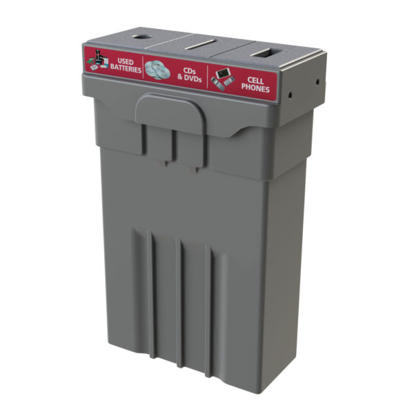 Campus and Office Washroom Recycling Bin, Slim Recycling Bin, e waste recycling