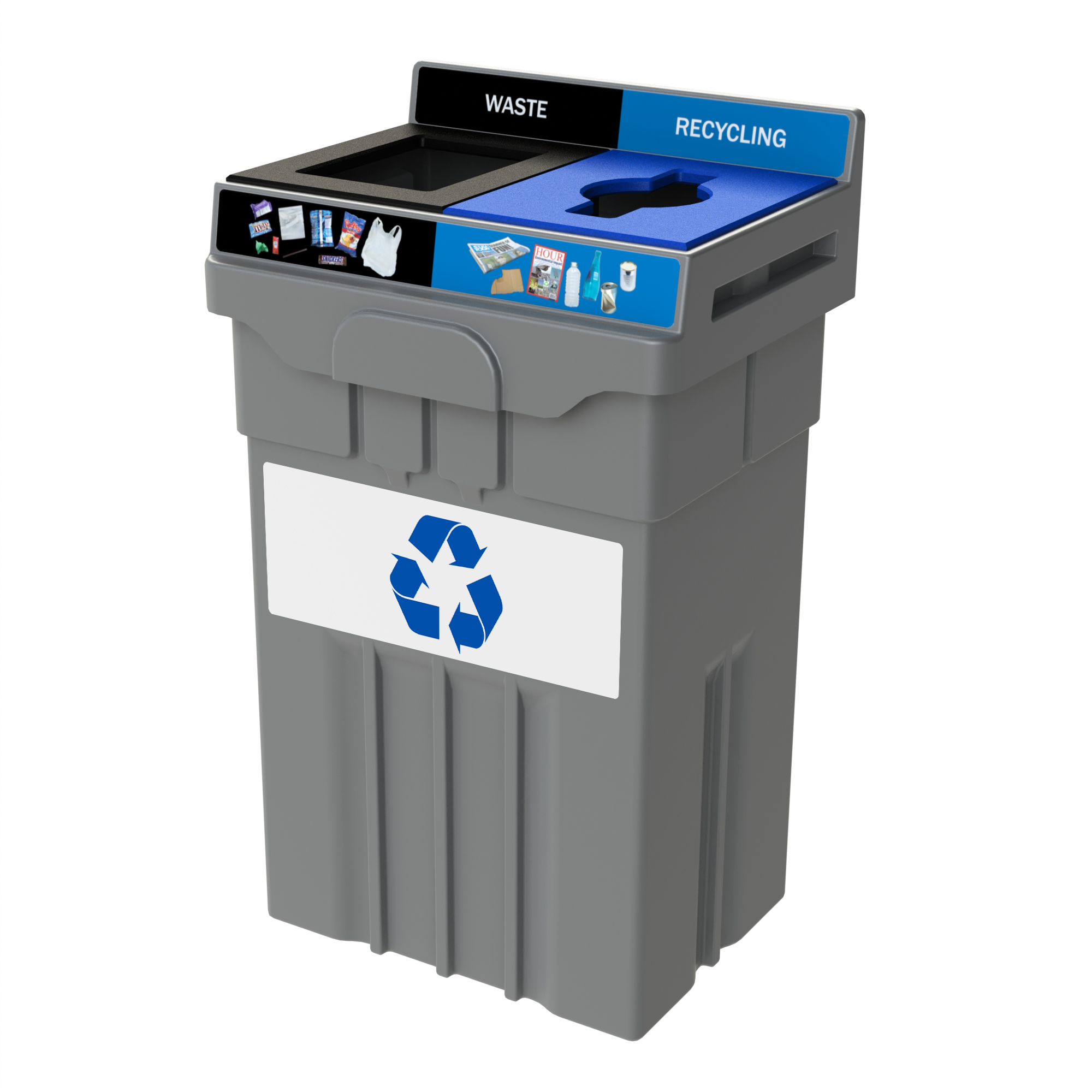 36 Gallon Waste and Recycling Bin- CleanRiver