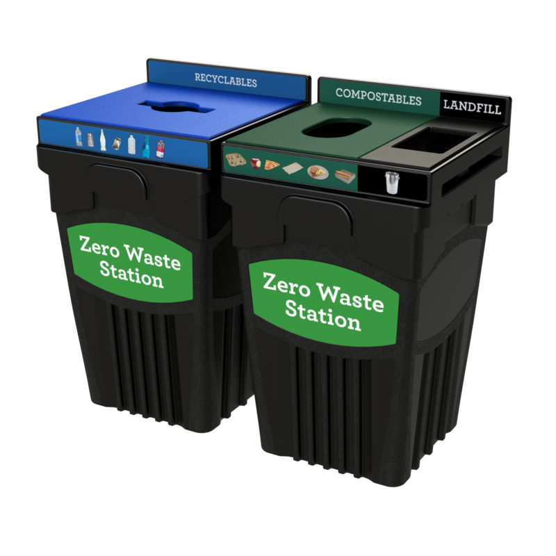 45 Gallon Event Recycling and Waste Container- CleanRiver