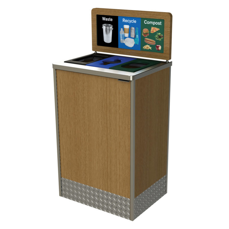 Foodservice Recycling Bin, Restaurant Recycling Bin, Office Recycling Waste  Container, Mall, Cafeteria
