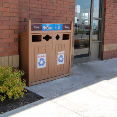 Tim Hortons Outdoor Recycling