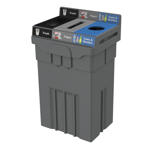 36 Gallon Recycling Bin, Plastic Recycling Container, Waste Receptacle, Best recycling bin, Transition, indoor recycling bin