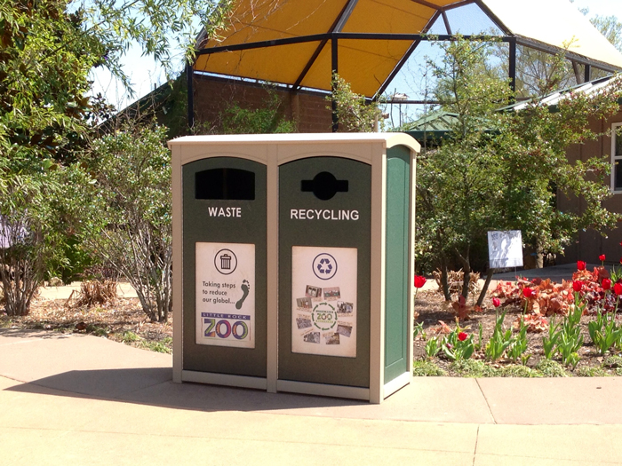 Little Rock Zoo incorporated custodial concerns into their recycling program design.