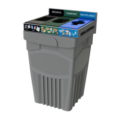 45 Gallon Recycling Bin, 3 compartment, costco recycling , Best Plastic recycling bin, Transition, indoor recycling bin