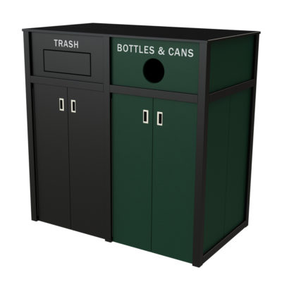 Stadium/Concourse Recycling Container- Outdoor Recycling Bin