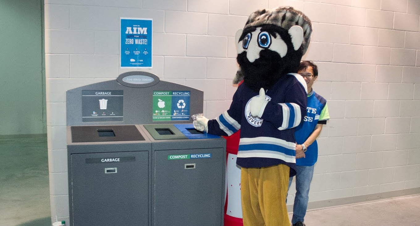 Town of Langley Bin with Mascot