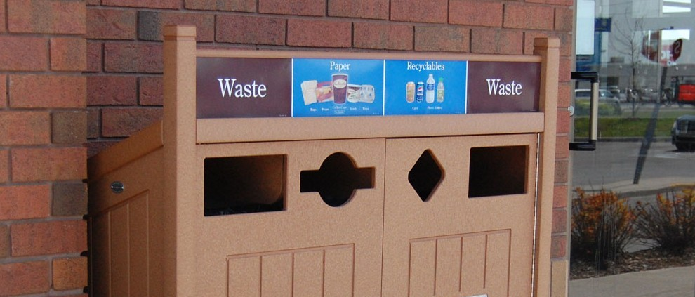 Graphics with specific items likely to be recycled improve diversion rates.