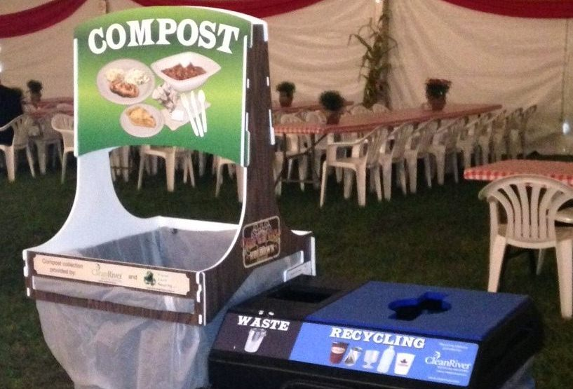 Compost Waste and Recycling Bin, 2 Stream, 45 Gallon, Recycling posters, Event Recycling, Best Recycling Program
