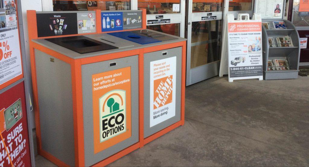 Home Depot- Recycling Program- Outdoor Recycling Bin- Store Recycling
