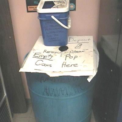 Orphan bin-Recycling Program - Poor Recycling - Recycling Bin