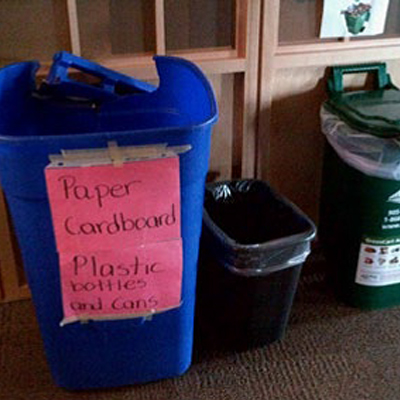 Recycling Program - Poor Recycling - Indoor Recycling Bin