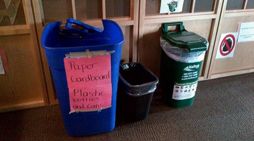 Recycling Program - Poor Recycling - Indoor Recycling Bin, Sustainability Manager, Facility Manager, recycling program, office recycling, business recycling, campus recycling