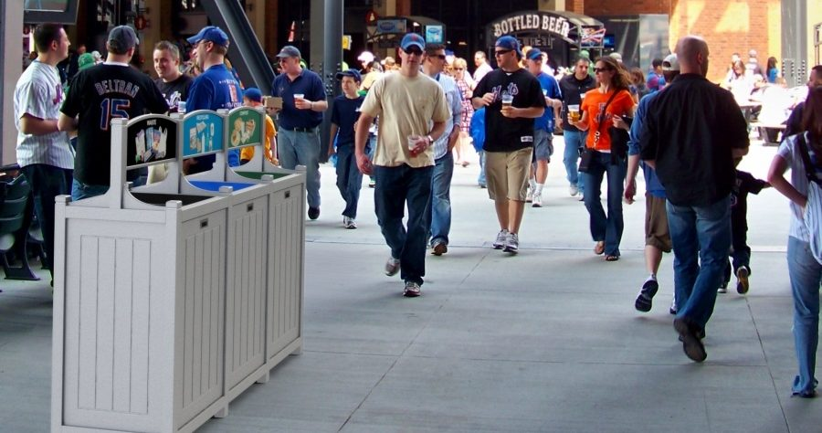 how to design a stadium    game day recycling program