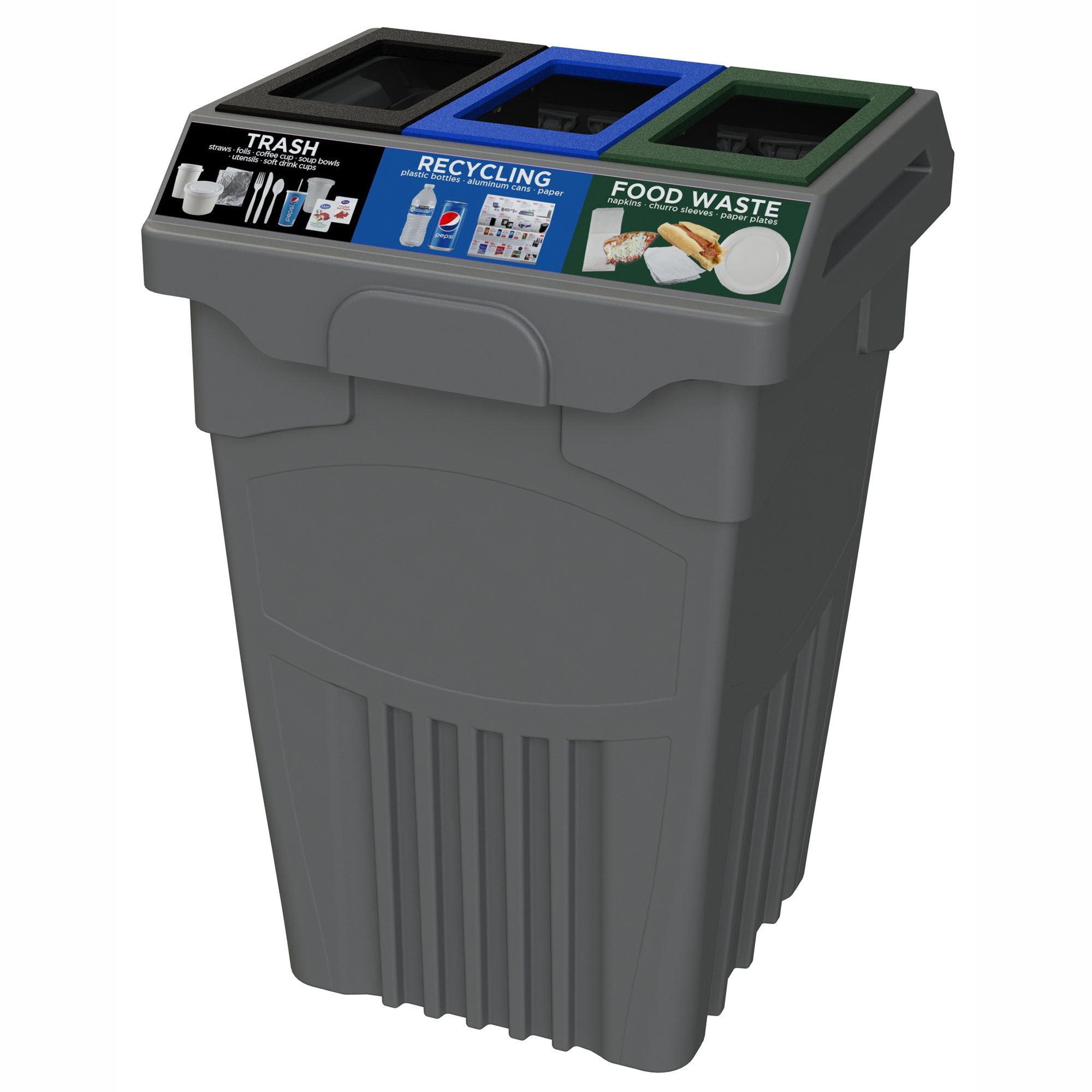 CleanRiver TPM 45 Gallon 3 Stream Recycling Container at Costco  sc 1 st  CleanRiver Recycling Solutions & Costco TPM 45 Gallon Recycling Container - CleanRiver