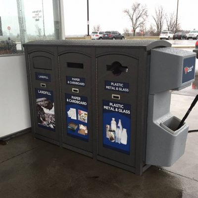 Canadian Tire Gas Station Recycling and Waste Container