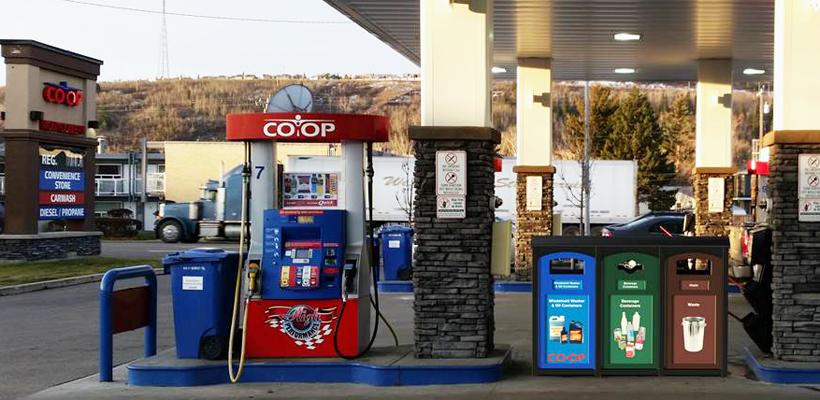 Co-op Gas Station Recycling Bin