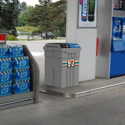 Seven Gas Station Recycling and Waste Container