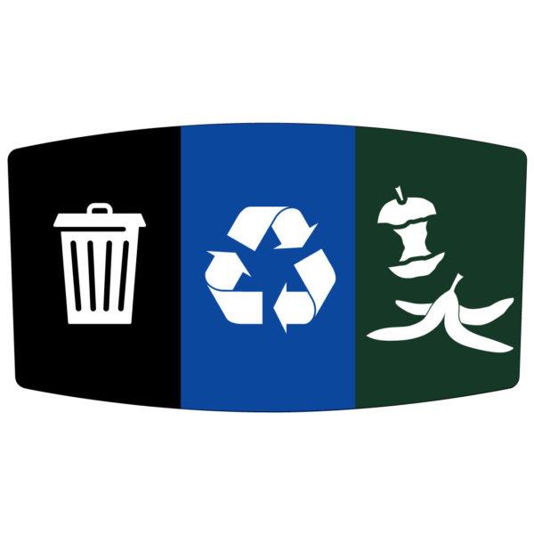 Flex E Bin Base Label Add-on (Waste / Recycling / Compost)