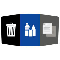 Flex E Bin Base Label Add-on (Waste / Bottles or Cans / Paper)
