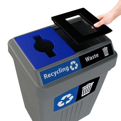 Flex E™ Bin with Transition® plates being removed