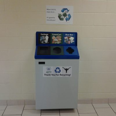 concention center recycling bins