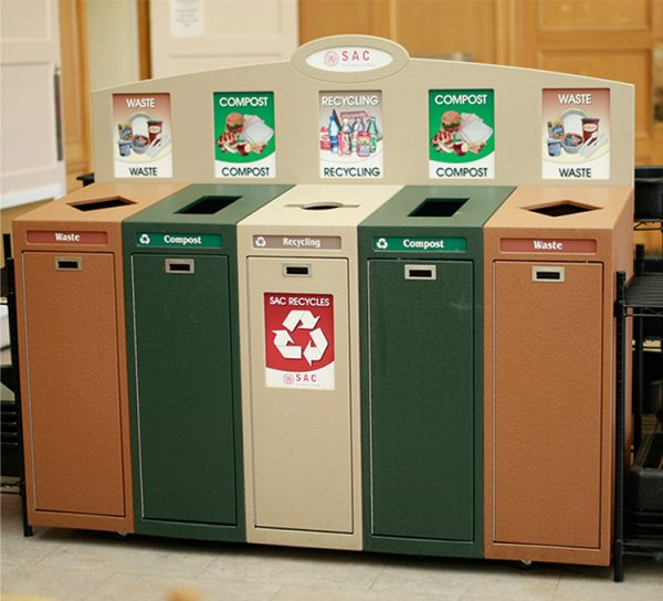 St. Andrew's College Top Loading Recycling Bins