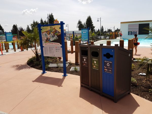 amusement parks, bins, sustainability, visibility