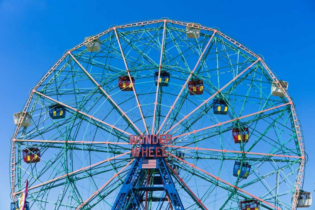 amusement park, ferris wheel
