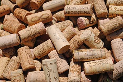 green bin, compost bin, corks