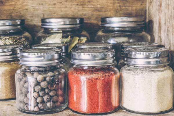 green bin, compost bin, jars