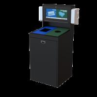 CleanStream, 51 gallon, 2 stream, recycling bin