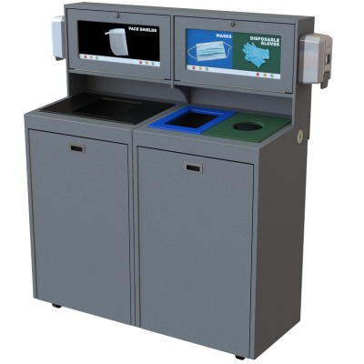 CleanStream, PPE, recycling bin