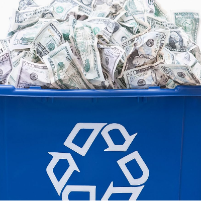 does commercial recycling save businesses money
