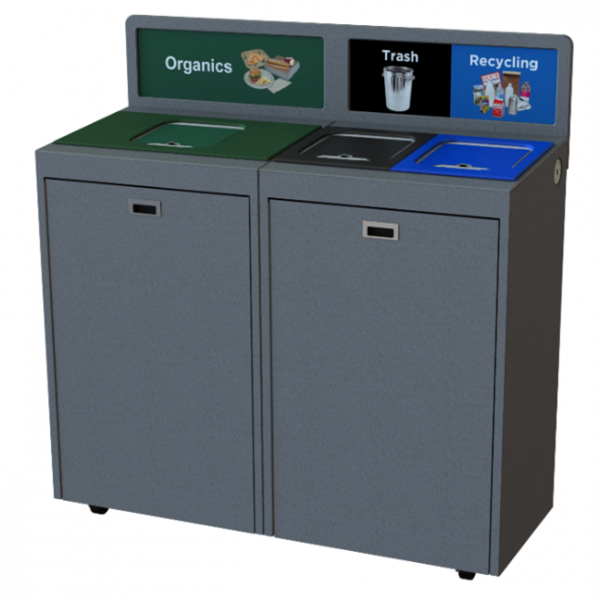 Sensi-lid touchless recycling centre