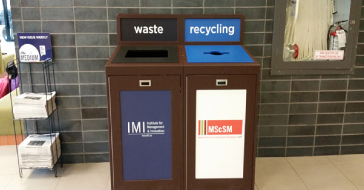 University of Toronto Recycling Graphics, Facility Managers, Campus Recycling