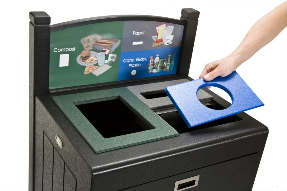 Transition Opening Plates, The Holy Grail of Recycling, Indoor Recycling, Recycling Bin Lids, Restrictive lids